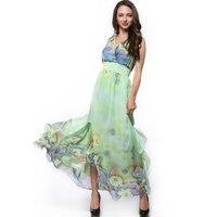 New Plus Size 6 7XL Summer Dress Women Sexy Elegant Beach Dress Chiffon Tunic Flower Floral