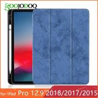 Для iPad Pro 12,9 чехол с карандашом держатель из кожи пу и ТПУ 2017 2015 Премиум 2018 мягкий чехол для iPad Pro 12,9 2018 чехол без ручки