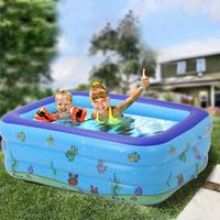 Portable Pools For Kids Inflatable Bathtub Baby Rectangular Swimming Pool Blow Up Kid Pools Hard Plastic Water Toys For Outdoor