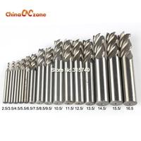 Carbide End Mill CNC Tools HSS Diameter 2 5 16 5mm 15pcs Set 4 Blades Flute