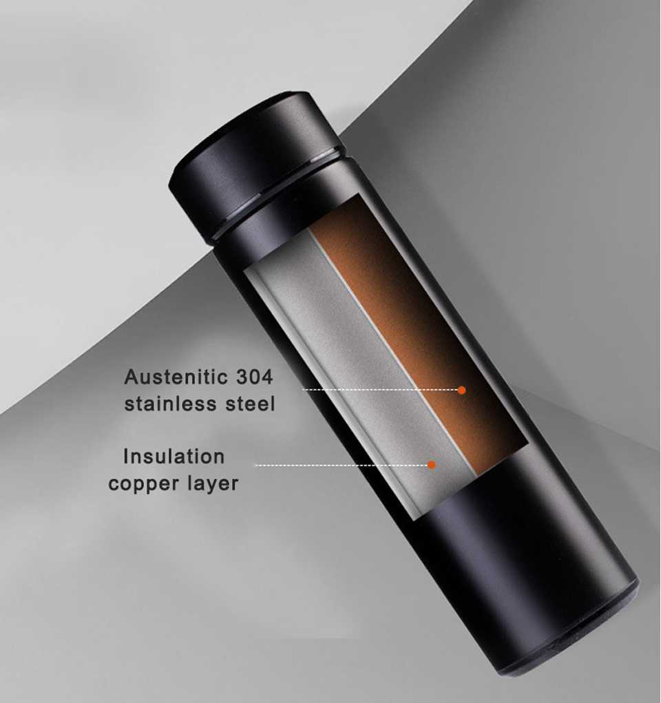 High Quality Stainless Steel Vacuum Flask, Thermal Cup, Coffee Thermos Mug, Water Bottle
