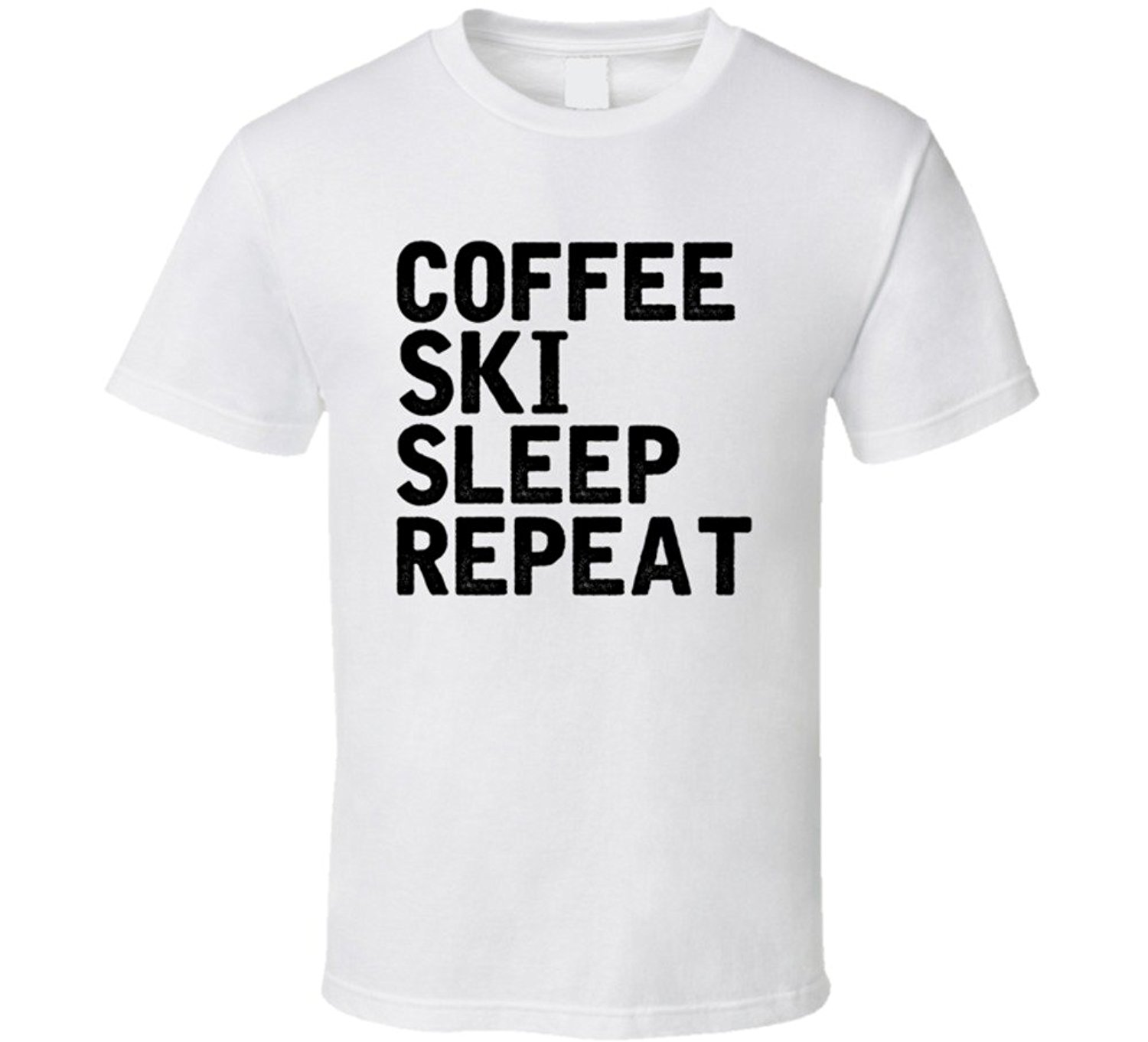 Coffee Sleep Repeat Funny Coffee Lover Cool Hobby T Shirt Men Brand Clothihng Top Quality Fashion Mens T Shirtes 100%Cotton