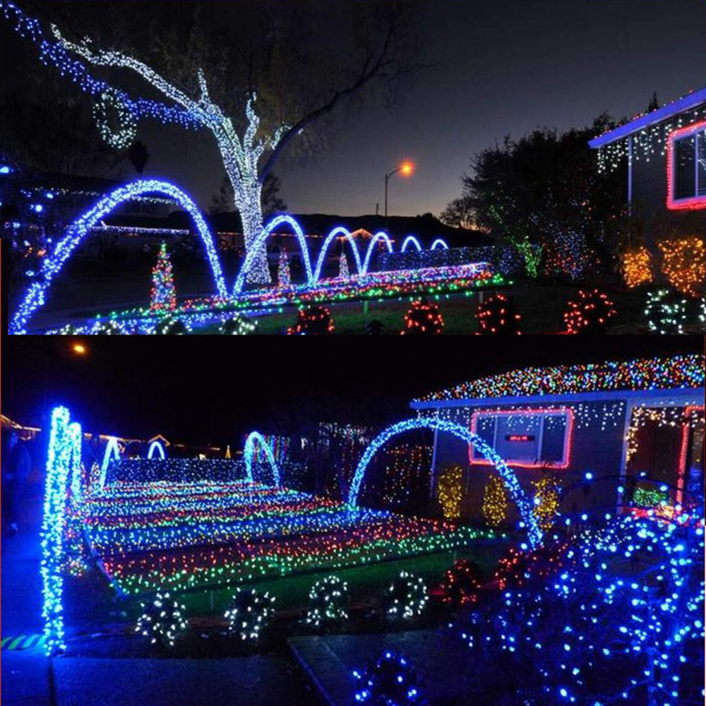 20m 200LEDs Twinkle Party Decorative Fariy String Lights 8 Modes For Wedding Xmas Halloween Diwali Christmas Outdoor