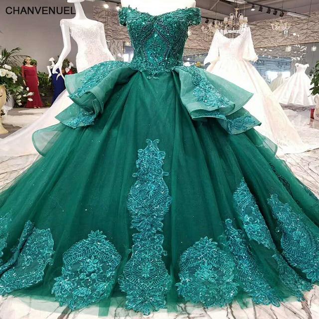 6bcfb212df LSS006 vestidos de festa longo emerald evening dress long lace flowers lace  up back sweetheart ball gown formal dress real photo