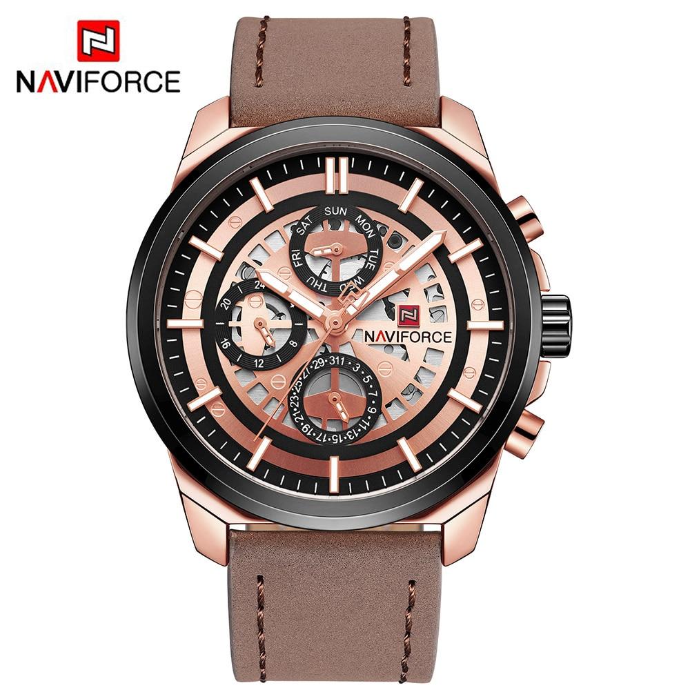 NAVIFORCE Luxury Men's Quartz Watch 24 Hour Date 1