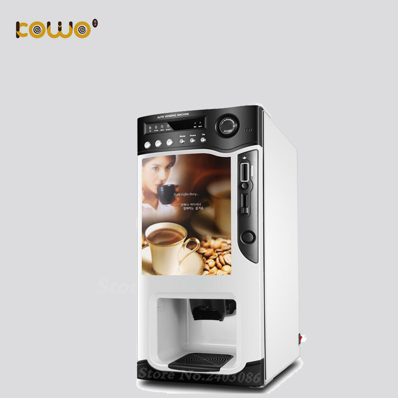 table top italian design mini coin operated fully automatic electric capuccino coffee maker vending machine with 3 drinks