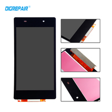 DigRepair Black For Sony Xperia Z2 L50W D6502 D6503 LCD Display Touch Screen Assembly Replacement Parts Test one by one