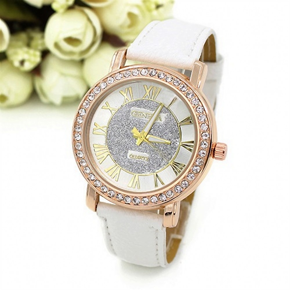 Mance diamond bracelet watches Fashion Brand Geneva Watches Women Faux Leather Rhinestone Crystal Analog Quartz Wrist Watch Gift mance new fashion brand women s watches luxury geneva faux leather analog quartz wrist watch relogio feminino quality gift