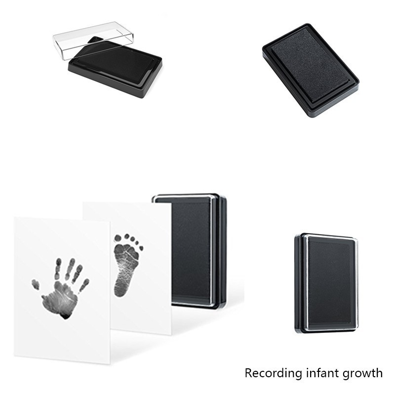 Baby Handprint And Footprint Ink Pad 100% Non-Toxic Safe Imprint Hundred Days Birthday Souvenir Hand Footprint Toy Gift