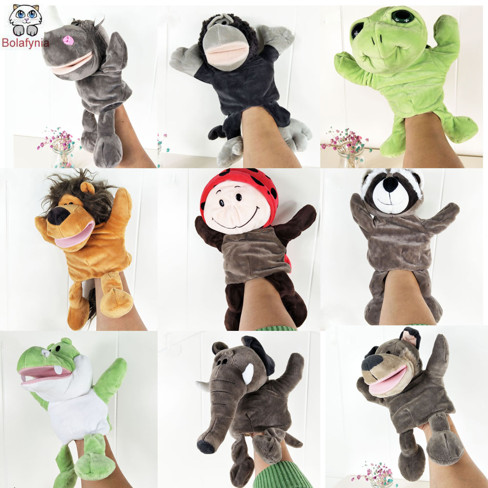 ᐊBOLAFYNIA Infant Children Hand Puppet kids baby plush Stuffed Toy ...