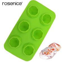 6 Lattices Silicone Ice Mold Diamond Shape Ice Cube Maker Tray Ice Cube Maker for Whiskey Iced Coffee