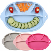 Dessert Plate Safe Food Grade Silicone Baby Placemat Divided Kids Lunch Dinner Dishes Bowl Children Tray