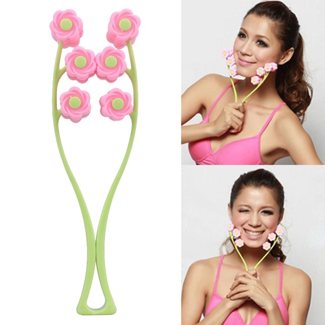 Flower Type Elastic Facial Massager Face-Lift Massage Roller Slimming Face