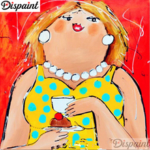 Dispaint Full Square/Round Drill 5D DIY Diamond Painting Fat woman Embroidery Cross Stitch 3D Home Decor A06348