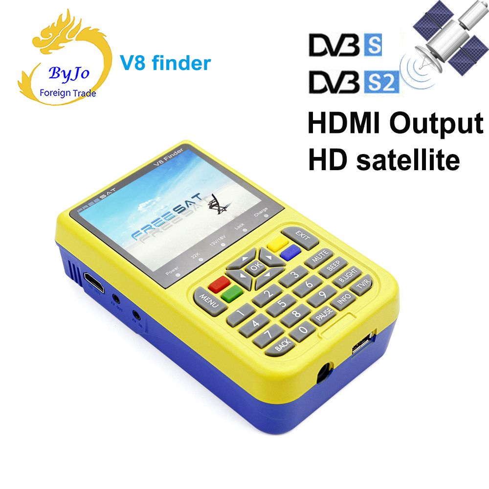 Freesat v8 HDMI Output finder Portable 3.5 inch LCD Sat Finder DVB-S2 HD Satellite Finder MPEG-4 FTA Digital Freesat sat integral s 1221 hd stealth купить есть в наличии