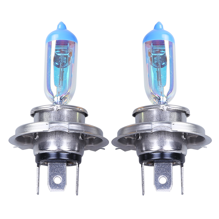 1pcs  Car Halogen Lamp H4(P43t) 12V 55/60W 4300k For Universal Replacement Rainbow Gold Color Headlight Foglight