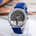 Luxury Full Crystals Women Dress Watches Novel London Hope Tree Quartz Timepiece Fashion Vogue Grils Leather Clock Reloj NW245