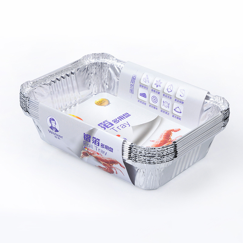 Barbecue Aluminum Foil Trays Disposable Food Vegetables
