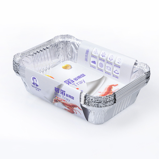 Barbecue Aluminum Foil Trays Disposable Food Vegetables Container Baking Pan Without Lid Kitchen Plates BBQ Supplies  sc 1 st  AliExpress.com & Barbecue Aluminum Foil Trays Disposable Food Vegetables Container ...