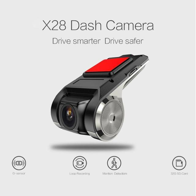 Full HD 720P รถ DVR กล้องนำทาง Dash กล้อง G Sensor ADAS วิดีโอ