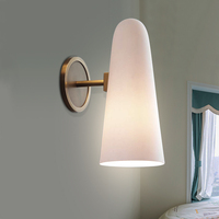 Пост современной бытовой настенный светильник творчески Нержавеющаясталь Спальня коридор модель Керамика прикроватной тумбочке фарфор