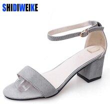 SHIDIWEIKE Ltarta Summer Women Sandals Open Toe Flip Flops Women's Sandles Thick Heel Women Shoes Korean Style Gladiator Shoes