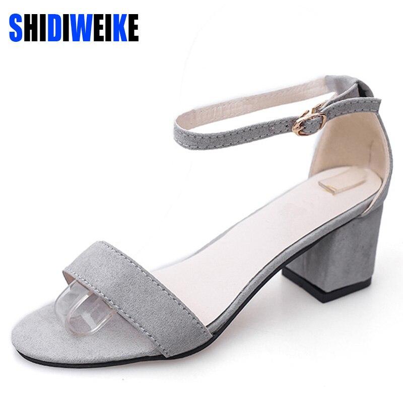 Shidiweike ltarta Летние женские сандалии с открытым носком Сланцы Для женщин сандалии Женская обувь на широком каблуке корейский стиль гладиатор Обувь