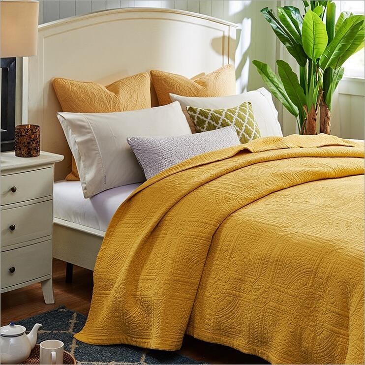 Jeté de lit d'été couvre-lits matelassés couette d'été couette de climatisation matelassée couverture de literie mince
