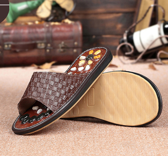 цены  Cobblestone Reflex Foot Massage Slippers Massages Acupuncture Health Shoes Summer Sandals Slippers Healthy Massager Foot Care