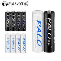 PALO 4 Uds AAA 1,2 v NIMH batería 3A 1100mah aaa pilas recargables aaa ni-mh pilas AAA recargables para juguetes de cámara