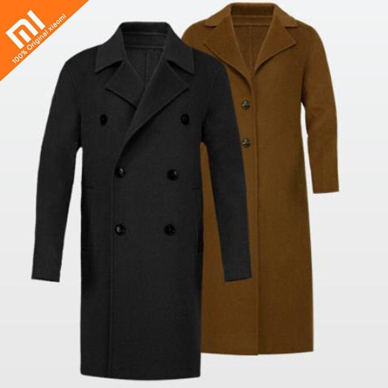 2 colors original xiaomi mijia 100% pure wool coat men and women models light luxury fashion wool coat