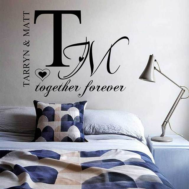 Couples Name Custom Wall Decal Wedding Decor Wedding Quotes Wall