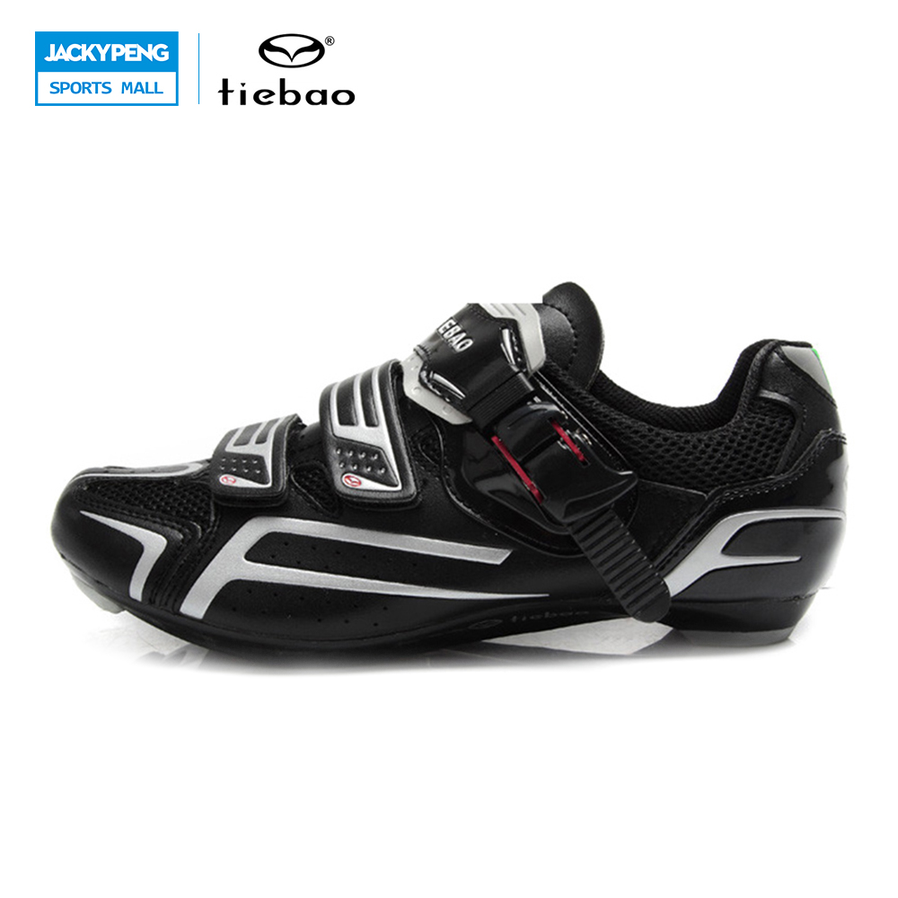 TIEBAO Adult Road Cycling Shoes Men's Outdoor Sport Bike Bicycle Sneaker Self-locking Bicycle Road Men Sports Bike Shoes tiebao tb02 b943 men s outdoor sports cycling shoes black white pair size 42