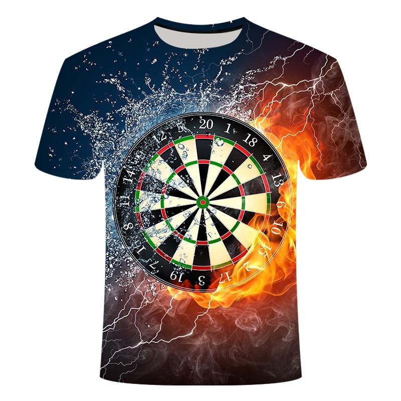2019 Summer Best 3D T Shirts Dart Board T-Shirt Darts Throw Game Graphic Tee T Shirts Short Sleeve Designer Shirts Drop Ship