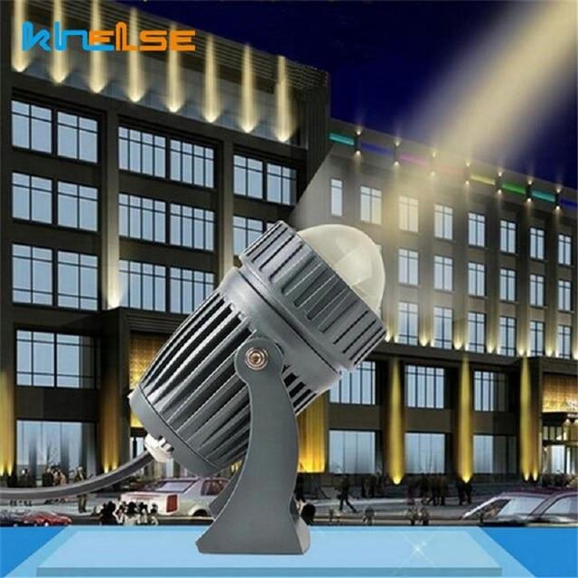 Projecteur extérieur de rondelle de mur LED 3/10W imperméabilisent les lumières de paysage de longue Distance de projecteur de Villa de jardin dangle de faisceau étroit dip65
