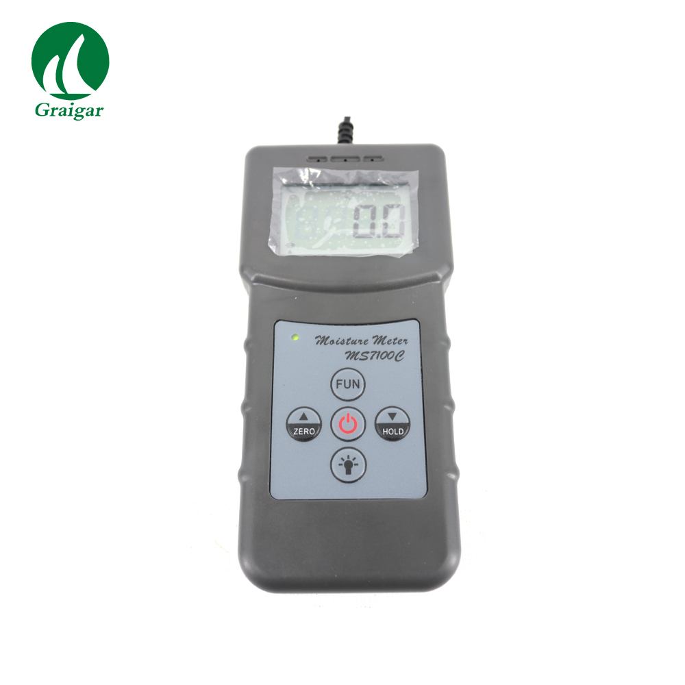 Discount! Portable Digital Cotton Moisture Meter Seed-cotton Lint Moisture Tester for Pure cotton fabric MS7100C hygrometers tk100c digital cotton seed cotton moisture meter digital tester 7 40% humidity