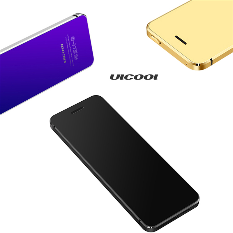 Hot ULCOOL V36 Phone With Super Mini Ultrathin Card Metal Body Bluetooth 2.0 Dialer Anti-lost FM MP3 Dual SIM Card Mini Phone