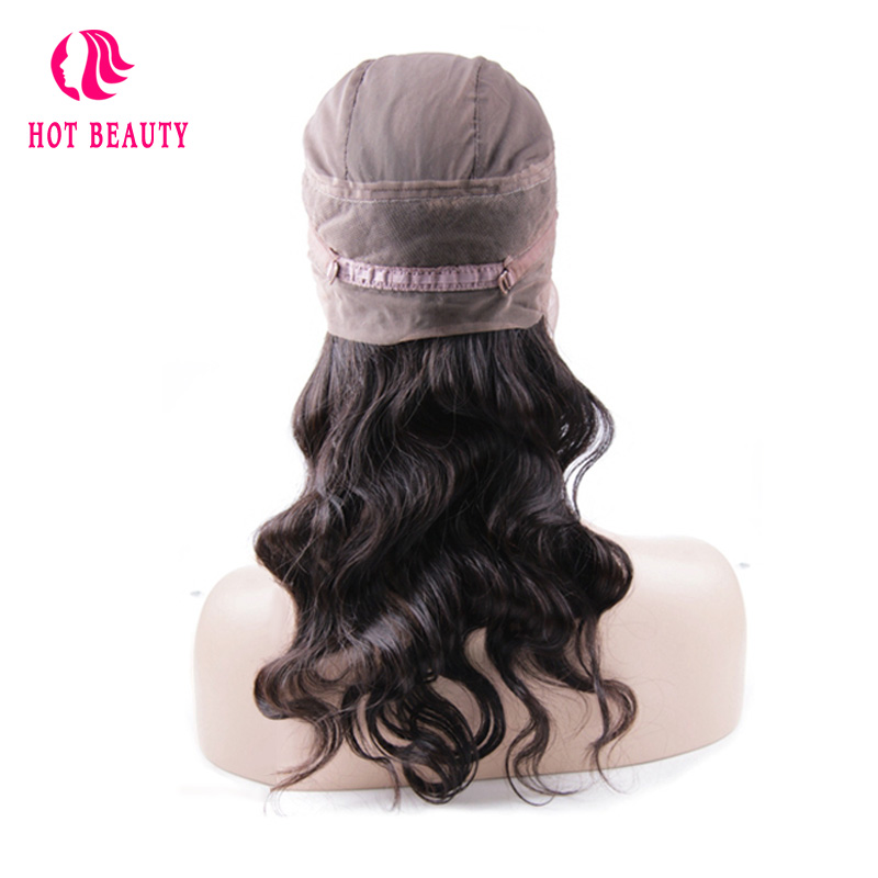 Hot Beauty Hair Peruvian Body Wave 360 Lace Frontal With Cap 10 20inch Pre Plucked Natural
