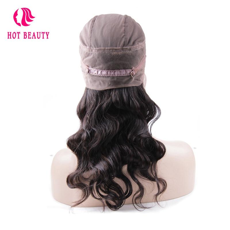 Hot Beauty Hair Brazilian Remy Hair Body Wave 360 Lace Frontal - Menneskehår (sort)