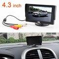"""Novo 4.3 """"TFT LCD Da Câmera Retrovisor Do Carro Monitor para DVD GPS Câmera Reversa De Backup Veículo condução acessórios"""