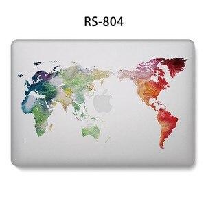 Image 4 - Fashion Hard Shell Laptop Fall für MacBook 12 13,3 zoll Retina Touch Air Pro 13 12 15 Stoßfest Abdeckung 2018Air 13 A1466 A1398