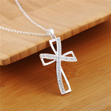 High Quality Silver Cross Pendant Necklace Christmas Gift