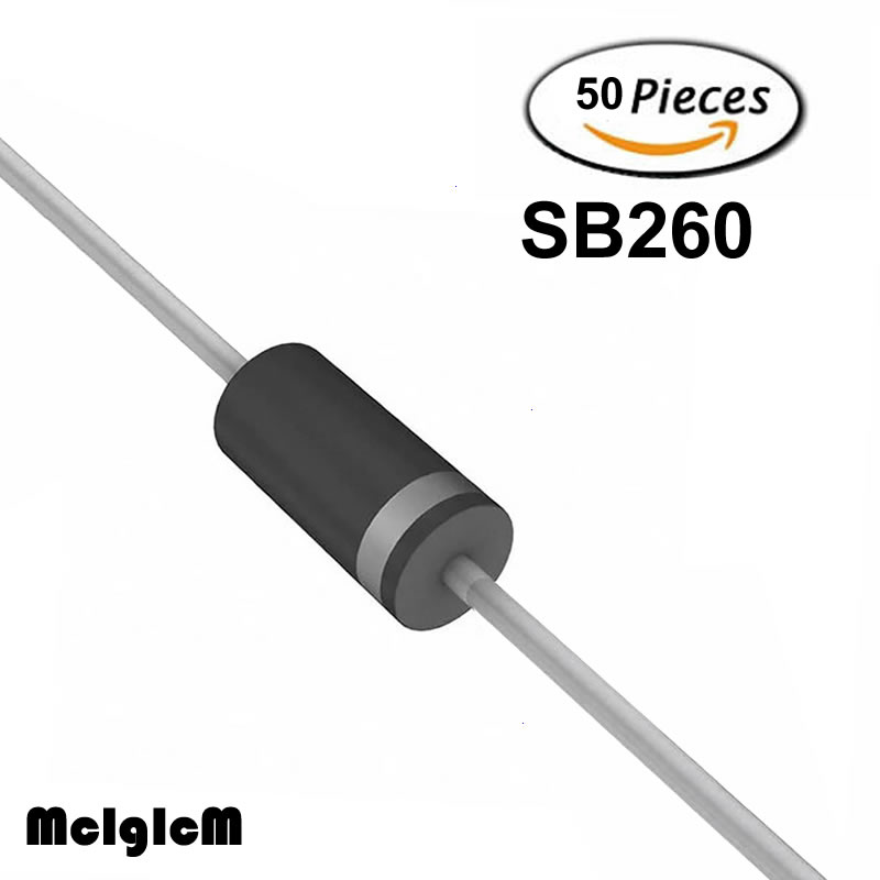 50PCS RL207 2A 1000V DIP Rectifier Diode NEW