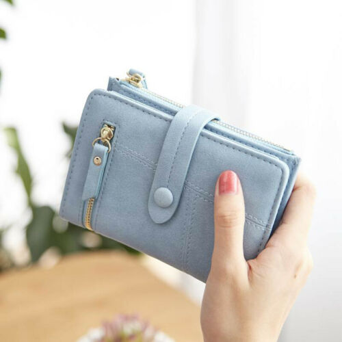 Stylish Women Girls Leather Smart Wallet Card Holder Coin Purse Clutch Small  New Solid Slim Purse Wallet For Women 2019