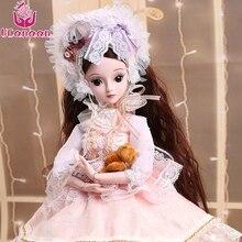 UCanaan 1/3 BJD Doll Fashion Style Lovely Bory Leksaker För Baby Girl Ny Ankomst Leksak Med Outfit Skor Wig Dress Makeup SD Dolls