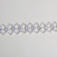 10Yards Crystal Rhinestone Trim Sparkling Diamond Rhinestones Bling Ribbon Roll Decorative Banding Belt Clear Stones AIWUJIA