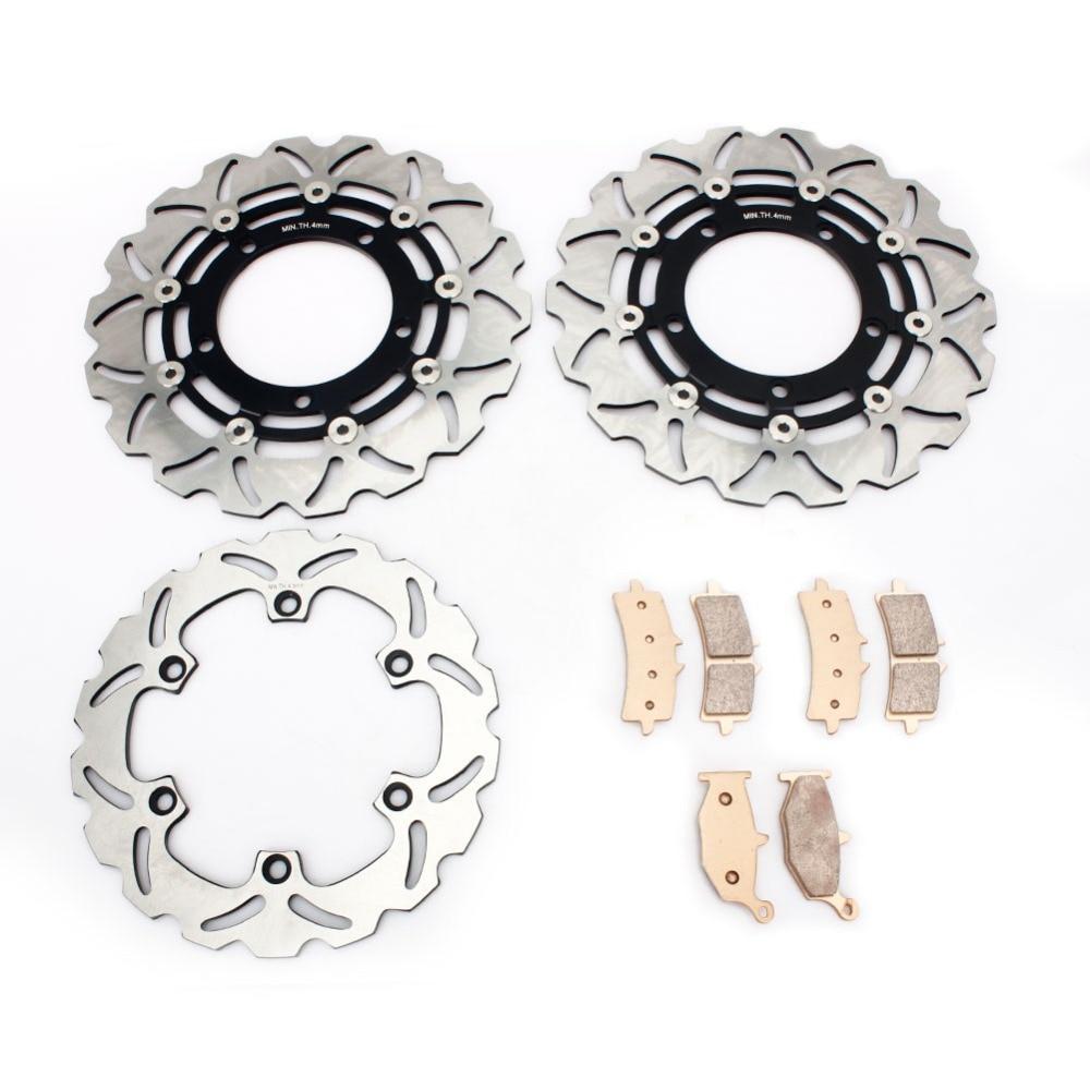 BIKINGBOY For Suzuki HAYABUSA GSX1300R 2013 2014 2015 13 14 15 Front Rear Brake Discs Disks Rotors Brake Pads Wave Set