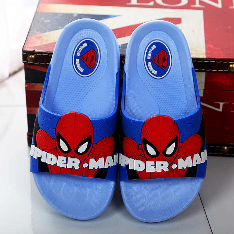 79f633366 ... 2018 baby boys slippers children pvc rubber cartoon spiderman kids home  sandal shower shoes Children Antiskid ...