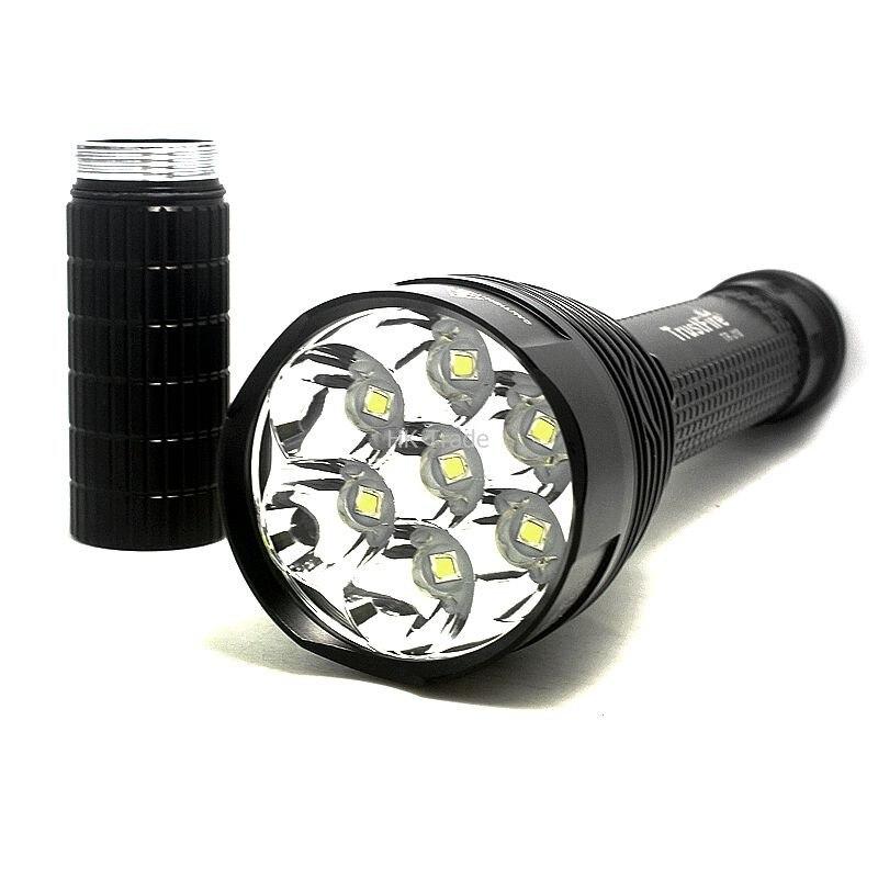 Lampe de poche de TR-J18 de fiabilité 5 modes 8000 Lumens 7 X CREE XM-L T6 LED par 18650 ou 26650 torche imperméable de puissance élevée de batterie