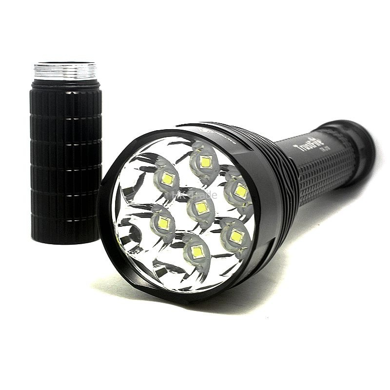 Trustfire TR-J18 Flashlight 5 Mode 8000 Lumens 7 X CREE XM-L T6 LED by 18650 or 26650 Battery Waterproof High Power Torch trustfire z3 cree xm l2 u3 1000lm 5 mode zooming led flashlight 1x18650